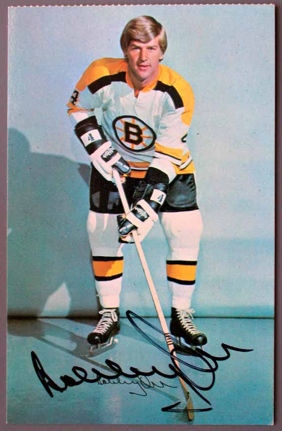 early 1970 u0026 39 s boston bruins autographed color postcard