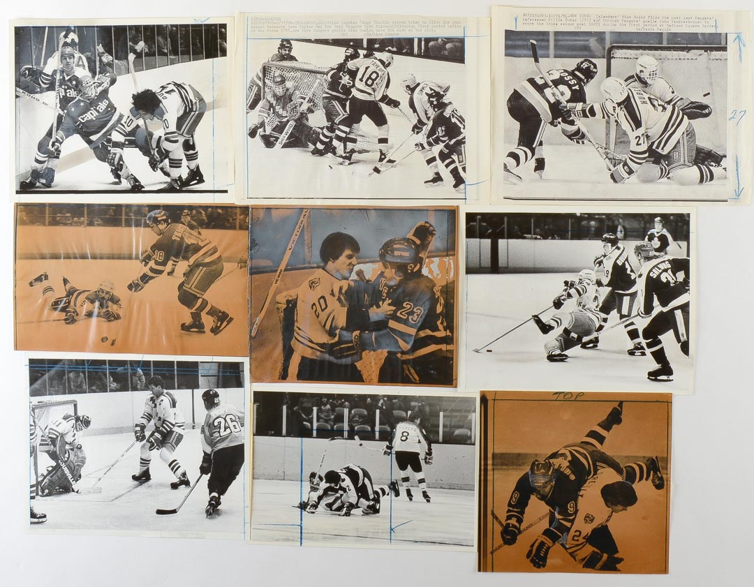 Lot Of (105) New York Rangers Wire Photos From 1978-79