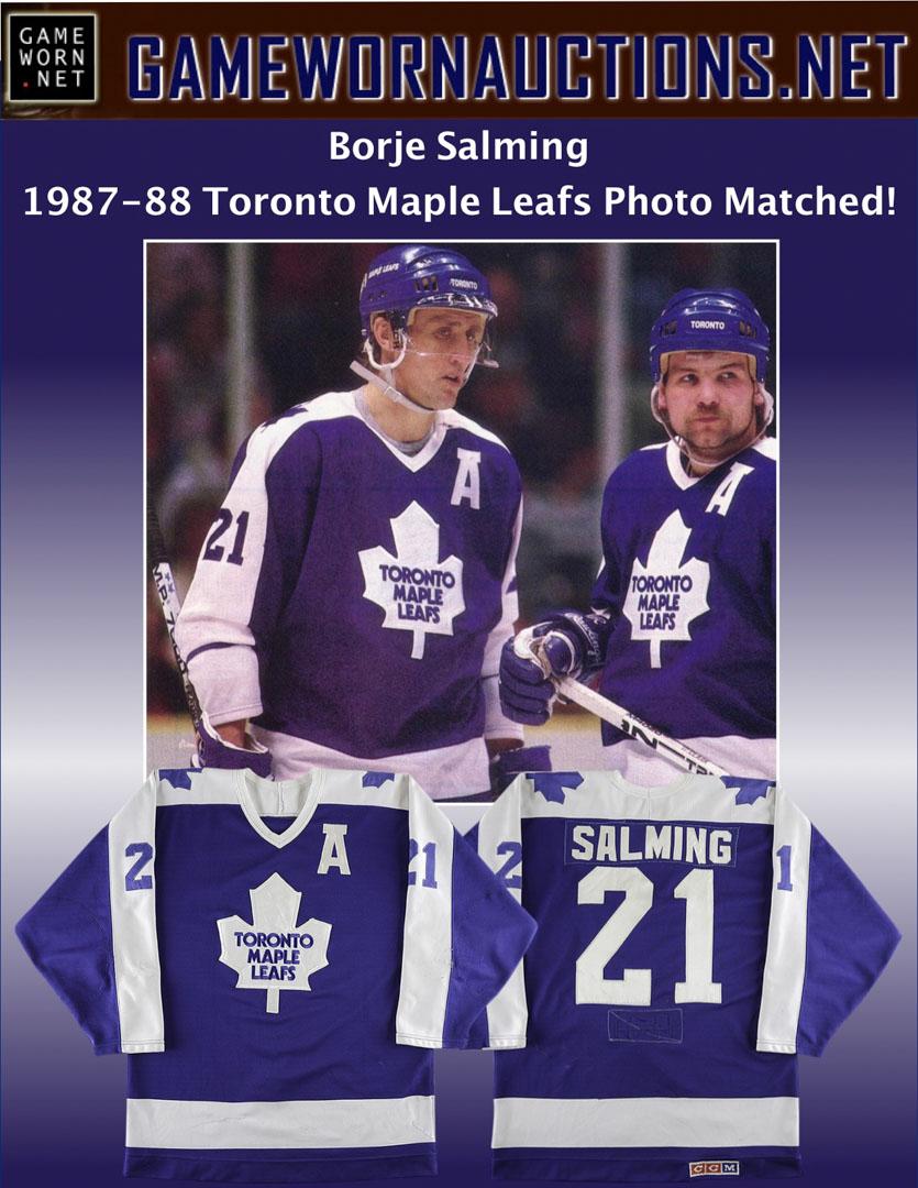 f906917c21d 1987-88 Borje Salming Toronto Maple Leafs Game Worn Jersey - Photo ...