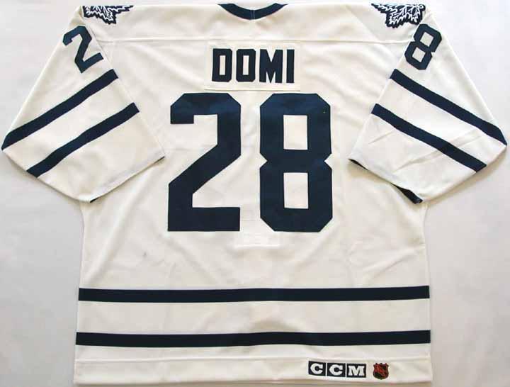 1994-95 Tie Domi Maple Leafs Game Worn Jersey - Video Match - Team ... fb6359bc4