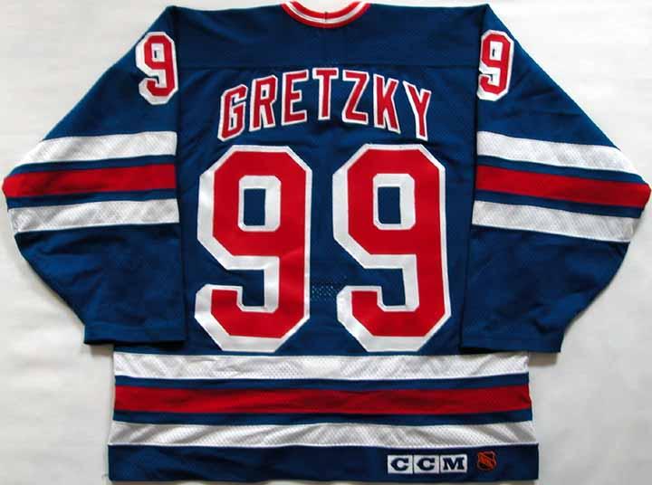 5cf33b8a1 Wayne Gretzky Rangers Replica Jersey  GAMEWORNAUCTIONS.NET