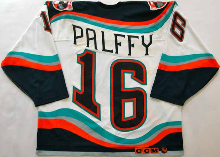 "1997-98 Ziggy Palffy Islanders Game Worn Jersey - ""Slovakian Flag"" - All Star Weekend"