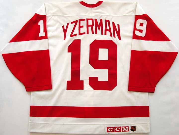 286006a50 1991-92 Steve Yzerman Red Wings Game Worn Jersey - From the Red ...