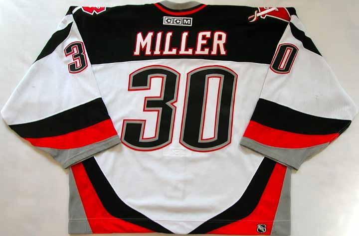 2003-04 Ryan Miller Sabres Game Worn Jersey - 2nd Season - NHL ... ba36dd0b831