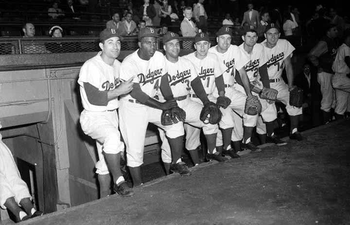 1954 brooklyn dodgers team signed ball
