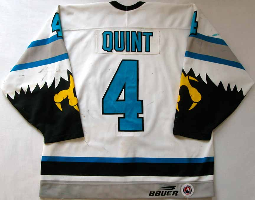 eec700f32 1996-97 Deron Quint Springfield Falcons Game Worn Jersey -