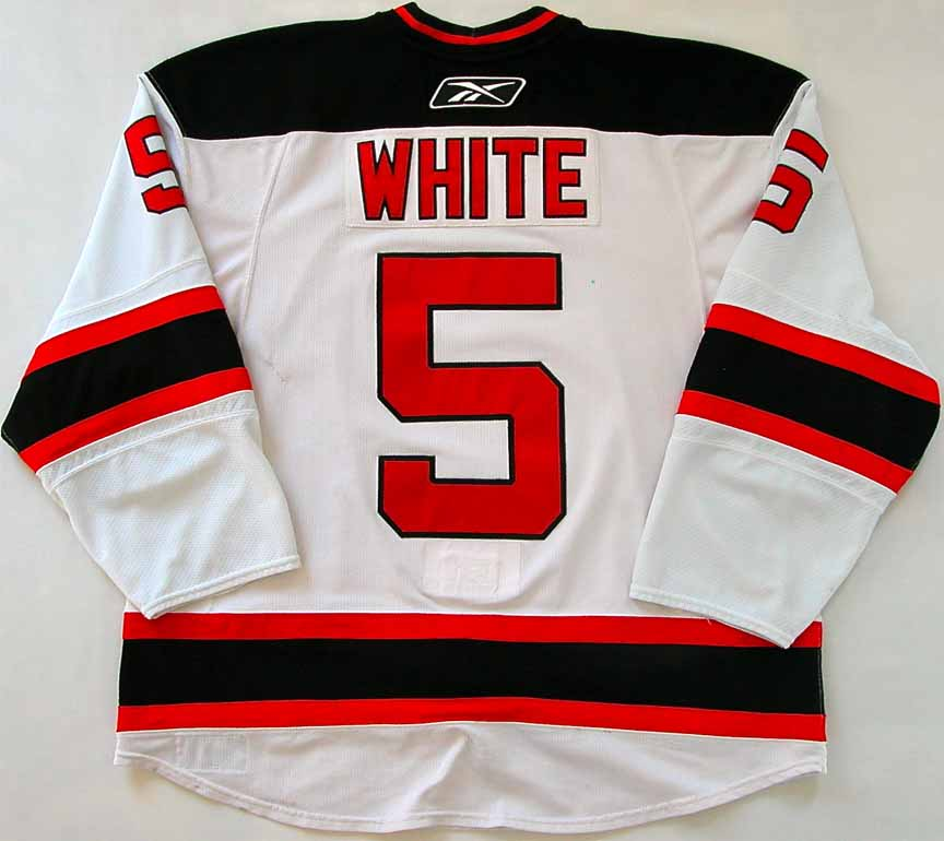 2009-10 Colin White New Jersey Devils Game Worn Jersey - Team Letter ... 5d92fc73b