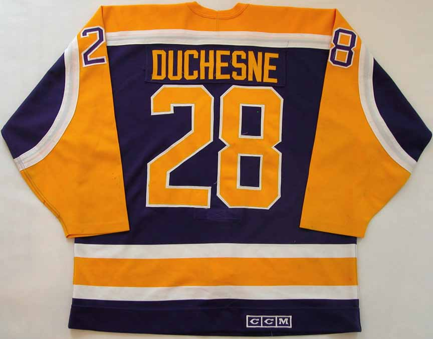 official photos 3cfcb fa184 1987-88 Steve Duchesne Los Angeles Kings Game Worn Jersey ...