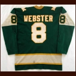 1974 75 Tom Webster New England Whalers Game Worn Jersey