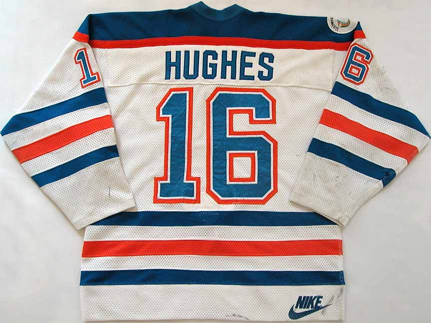 finest selection 89813 635ed 1982-83 Pat Hughes Edmonton Oilers Game Worn Jersey -