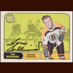 1968-69 Tom Williams Boston Bruins Autographed Card – Deceased