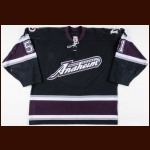 2005-06 Ryan Getzlaf Anaheim Mighty Ducks Game Worn Jersey – Alternate – Rookie - 1st Home Game - 1st Playoff Goal, Assist & Point - 1st NHL Fight - Last Mighty Ducks Franchise Game - Photo Match – Team Letter