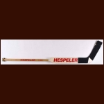 Chris Osgood Detroit Red Wings White Hespeler Game Used Stick – Autographed