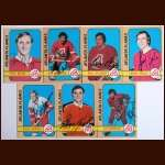 1972-73 Autographed Atlanta Flames Card Group of 7