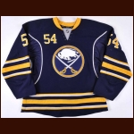 2011-12 Zack Kassian Buffalo Sabres Game Worn Jersey – Rookie - 1st NHL Goal - Photo Match – Team Letter