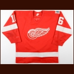 "1985-86 Kelly Kisio Detroit Red Wings Game Worn Jersey - ""60-year Anniversary"""