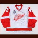 2017 Chris Chelios Detroit Red Wings Centennial Classic Alumni Game Worn Jersey - 13 Autographs - Photo Match - The Chris Chelios Collection – Chris Chelios Letter