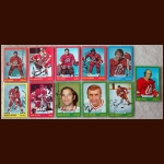 1973-74 Autographed Atlanta Flames Card Group of 11 - Including 2 Deceased