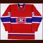1981-82 Guy Lapointe Montreal Canadiens Game Worn Jersey - Last Montreal Canadiens Jersey – Photo Match