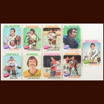 1975-76 Topps Autographed Card Group of (9) – Hall of Famer