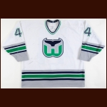1994-95 Chris Pronger Hartford Whalers Game Worn Jersey - Photo Match