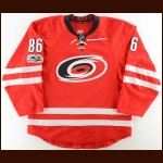2016-17 Teuvo Teravainen Carolina Hurricanes Game Worn Jersey – Photo Match – Team Letter