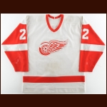 1987-88 Dave Barr Detroit Red Wings Game Worn Jersey