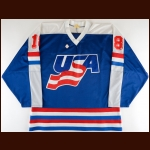 Circa 1988 Kevin Stevens Team USA Game Worn Jersey