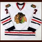 2010-11 Brent Seabrook Chicago Blackhawks Game Worn Jersey - Photo Match – Team Letter