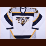 2001-02 Scott Walker Nashville Predators Game Worn Jersey