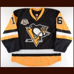 "2016-17 Eric Fehr Pittsburgh Penguins Game Worn Jersey – ""50-Year Anniversary"" – Dollar Energy Fund Jerseys For Warmth – Photo Match - Team Letter"