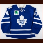 "2014-15 Nazem Kadri Toronto Maple Leafs Game Worn Jersey – ""Pat Quinn"" - Photo Match – Team Letter"