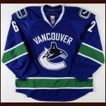 2009-10 Mario Bliznak Vancouver Canucks Game Worn Jersey - Rookie - 1st Home Jersey - Team Letter