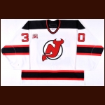 "2006-07 Martin Brodeur New Jersey Devils Game Worn Jersey - ""25-year Anniversary"" - NHL Record Tying 447th Win – Photo Match – Team Letter"