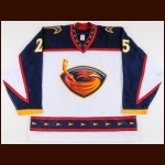 2002-03 Andy Sutton Atlanta Thrashers Game Worn Jersey - Photo Match