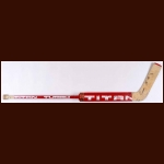Bob Sauve Chicago Blackhawks/New Jersey Devils Red Titan Game Used Stick