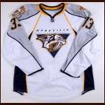 2009-10 Colin Wilson Nashvile Predators Game Worn Jersey - Rookie - Team Letter