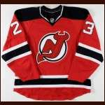 2008-09 David Clarkson New Jersey Devils Game Worn Jersey - Photo Match - Team Letter