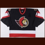 1997-98 Daniel Alfredsson Ottawa Senators Game Worn Jersey - Photo Match
