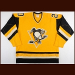 1980-81 Paul Gardner Pittsburgh Penguins Game Worn Jersey - Inaugural Sunday Gold Set