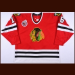 1991-93 Michel Goulet Chicago Blackhawks Game Worn Jersey - Photo Match