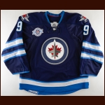 2011-12 Evander Kane Winnipeg Jets Game Worn Jersey – Inaugural Season – Photo Match – Team Letter