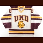 "2001-02 Mark Carlson University of Minnesota-Duluth Game Worn Jersey – ""50-year Anniversary"""