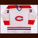 1978-79 Bob Gainey Montreal Canadiens Stanley Cup Finals Game Worn Jersey - Conn Smythe Trophy - Frank J. Selke Trophy - Photo Match