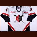 2008-09 Kelly Miller Wheeling Nailers Game Worn Jersey – ECHL Letter