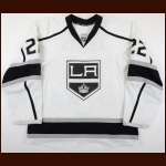 2014-15 Trevor Lewis Los Angeles Kings Game Worn Jersey - Photo Match – Team Letter