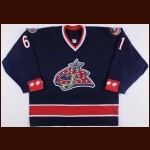2005-06 Rick Nash Columbus Blue Jackets Game Worn Jersey - Photo Match
