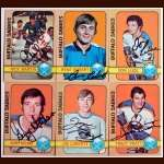 1972-73 Autographed Buffalo Sabres Card Group of 6
