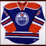 2010-11 Andrew Cogliano Edmonton Oilers Game Worn Jersey – Retro - Photo Match – Team Letter