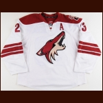2014-15 Oliver Ekman-Larsson Arizona Coyotes Game Worn Jersey - All Star Season - Photo Match – Team Letter